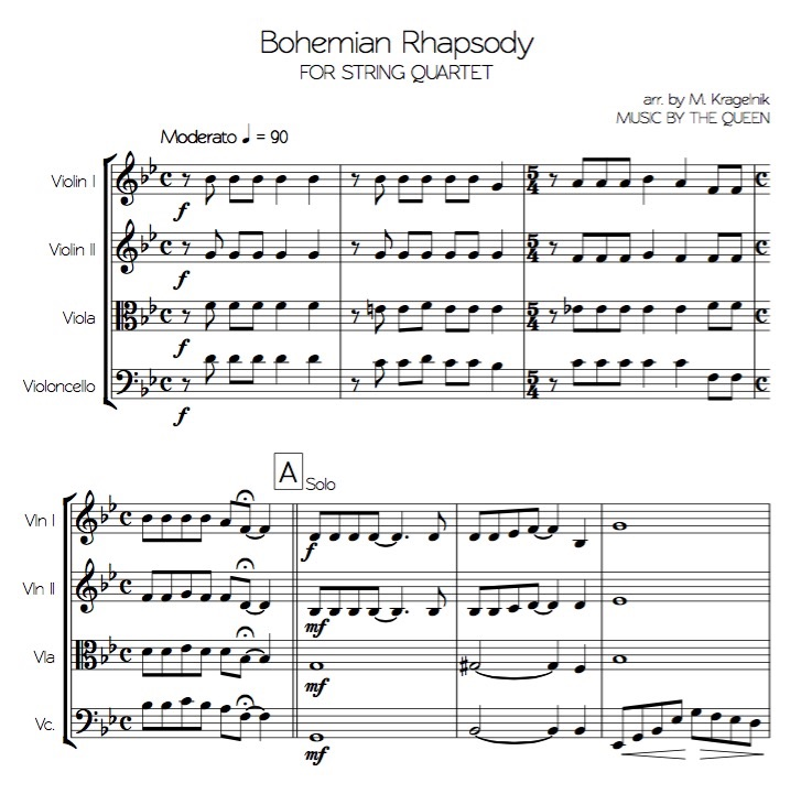 sheet music bohemian rhapsody - Timiz.conceptzmusic.co