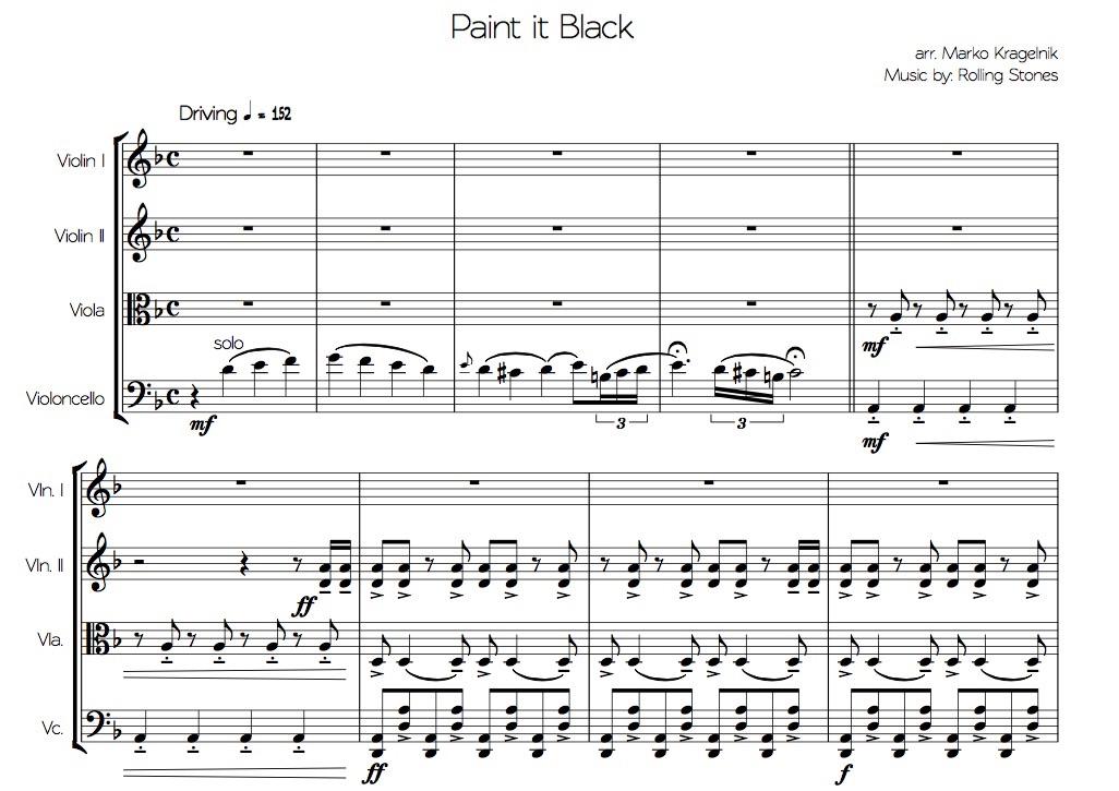 paint it black violin sheet music - Heart.impulsar.co
